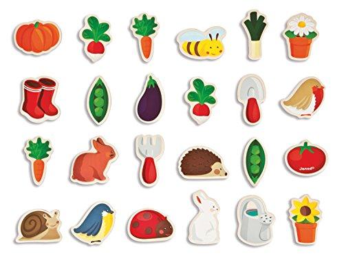 Janod - Imanes con temática de jardín, 24 piezas (J08156)