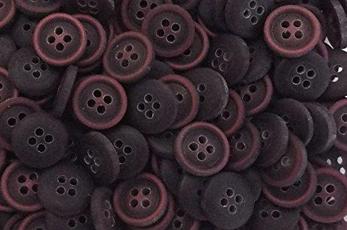 10 Blusen Hemden Knöpfe 11 mm schwarz, aubergine Schimmer