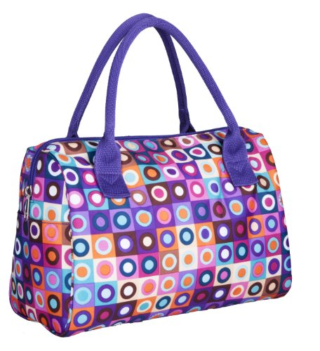 Kora K7-099 Insulated Fashion Lunch Tote, Purple