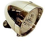 選べる2色 3 LED 砲弾型 自転車 ライト 単4電池 3本 レトロ 配線 不要 シルバー