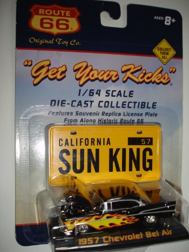 "2001 Route 66 ""Get Your Kicks"" 1957 Chevrolet Bel Air 1/64 Scale Diecast"