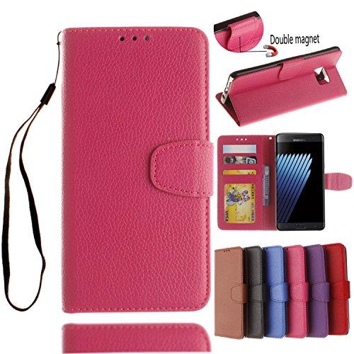 BONROY® Coque pour Samsung Galaxy Note 7,Housse en cuir pour Samsung Galaxy Note 7,imprimé étui en cuir PU Cuir Flip Magnétique Portefeuille Etui