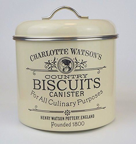 Charlotte Watson Enamel Ware Biscuit Tin Canister 67433
