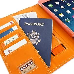 Snugg™ iPad Mini & iPad Mini 2 Case - Executive Smart Cover With Card Slots & Lifetime Guarantee (Orange Leather) for Apple iPad Mini & iPad Mini 2