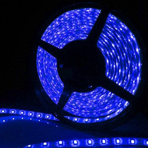 Supernight (Tm) 16.4Ft 5M Smd 5050 Waterproof 300Leds Blue Led Flash Strip Light ,Led Flexible Ribbon Lighting Strip,12V 60W front-590703