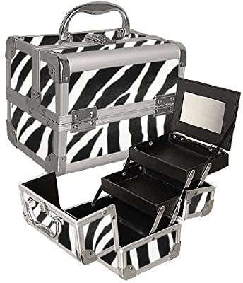 Best Cheap Deal for Zebra Print Makeup Case W/ Mirror by SEYA - Free 2 Day Shipping Available