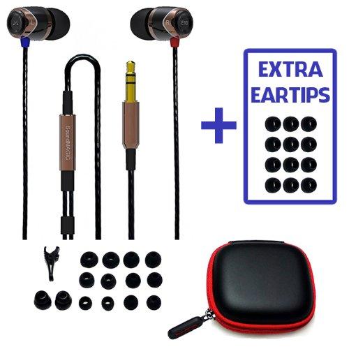 Bonus Value Pack! Soundmagic E10 Gold, Noise Isolating In-Ear Earphones + Extra Eartips