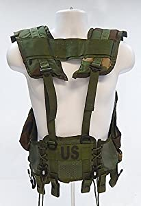 US Military ALICE Enhanced Load Bearing Tactical Vest, Woodland Camo