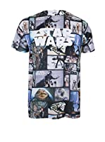 Star Wars Camiseta Manga Corta Characters (Multicolor)