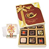Lovely Chocolate Gift Box With Birthday Card - Chocholik Luxury Chocolates