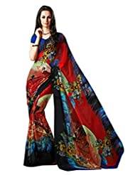 Roop Kashish Women Georgette Saree (7009 _Multi-Coloured _Free Size)