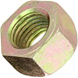 Steel Hex Nut, Zinc Yellow-Chromate Plated Finish, Grade 8, Right Hand Threads, Meets ASME B18.2.2, Inch