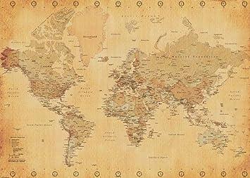 Poster xxl mappemonde carte carte du monde - Carte cadeau maison du monde ...