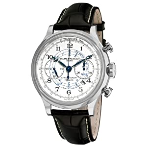 Baume & Mercier Men's 10006 Capeland Chronograph Silver Chronograph Dial Watch