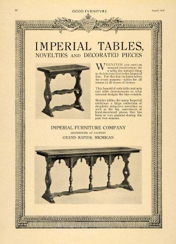 Cheap 1916 Ad Sofa End Tables Imperial Furniture Company Deco – Original Print Ad (B005DH1YMS)
