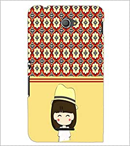 PrintDhaba Cute Girl D-2778 Back Case Cover for SONY XPERIA E4 (Multi-Coloured)