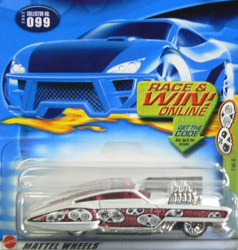 Hot Wheels 2002-099 Grave Rave Series Evil Twin 1/4 WHITE #99 - 1