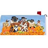 Thanksgiving Dogs 1377MM Magnetic Mailbox Cover