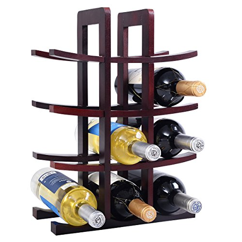 Modern Wood Wine Rack - W6 (Stact Modular Wine Rack White compare prices)