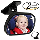 PNBB Shatterproof Baby Seat Mirror,Easily Watch Your Baby with Clear View and Adjustable Rotation Design - Set of 3
