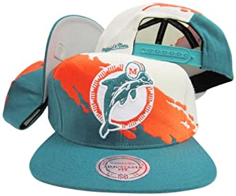Miami Dolphins Snapback Adjustable Plastic Snap Mitchell & Ness Hat Cap by Mitchell & Ness