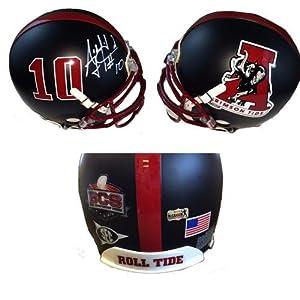AJ McCarron Autographed Black Alabama Crimson Tide Concept Helmet - Autographed...