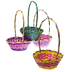 "11"" Bamboo Easter Basket"