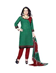 Sky Fashions Women's Multi Cotton Top Un-stiched Salwar Suit (SYFW0037)