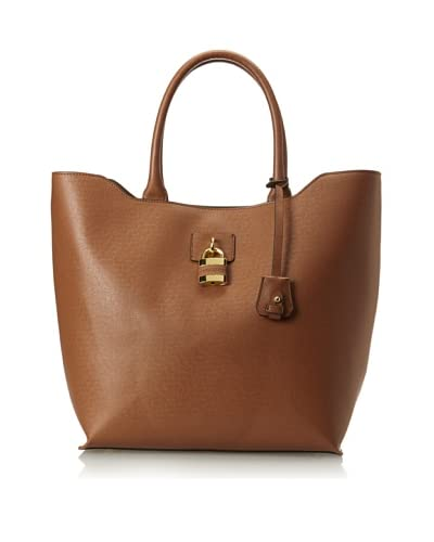 London Fog Women's Lawrence Tote, Cognac As You See
