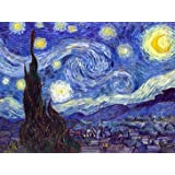 Wieco Art 36x48 Inch Starry Night Canvas Prints Wall Art by Van Gogh Classical Famous Artwork Huge Size Modern Blue Impressionist Sky Star Pictures Paintings for Living Room Bedroom Home Decorations (Color: Blue, Tamaño: 48x36inch (120x90cm))