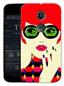"""Chic Confident Girl Printed Designer Mobile Back Cover For """"Motorola Moto X2"""" By Humor Gang (3D, Matte Finish, Premium Quality, Protective Snap On Slim Hard Phone Case, Multi Color)"""