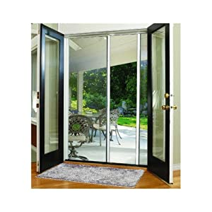 Larson mfg e200 retractable screen door screen door for Retractable screen door with lock
