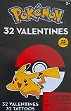 Pokemon Children's 32 Valentines With…