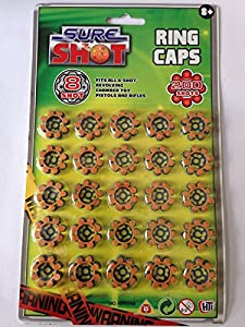 3 x Packets 8 Shot Ring Caps - Total 75 Rings (600 Shots)