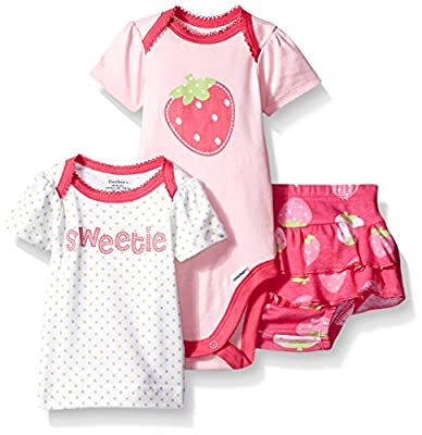 Gerber Baby Girls' 3 Piece Bodysuit, Lap-Shoulder Shirt, and Skort Set by Gerber Children's Apparel that we recomend personally.
