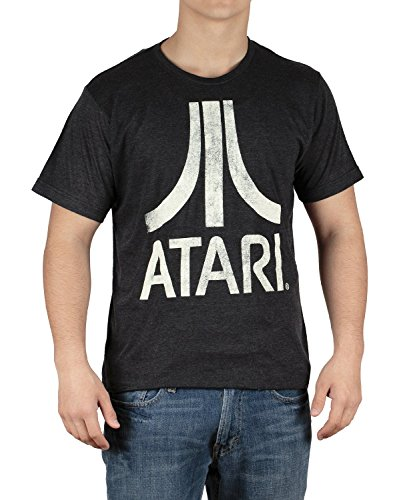 Atari Classic Logo Mt. Fuji Mens Super Soft Tri-blend T-shirt(X-Large)