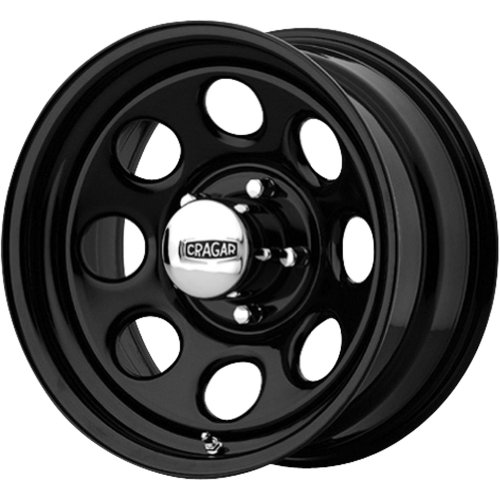 Cragar Black Soft 8 397 Black Wheel (15x8