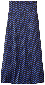 Amy Byer Big Girls' Chevron Stripe Maxi Skirt, Cobalt, Small