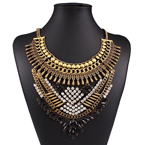 Diamonds Explosion models exaggeration fashion retro false collar necklace (Model Clothing compare prices)