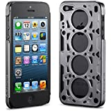 idAmerica IDCA504GRY Gasket V8 Case for iPhone 5 - 1 Pack - Retail Packaging - Gray