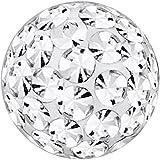 Piercing-Kugel Schmuck Ball Multi Kristalle Kristall Klar | 4, 5 und 6 mm