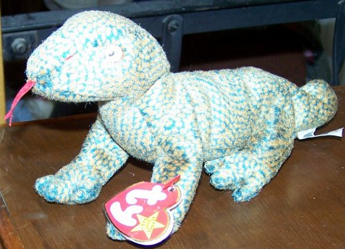TY Beanie Babies Scaly the Lizard Stuffed Animal Plush Toy - 10 inches long - 1