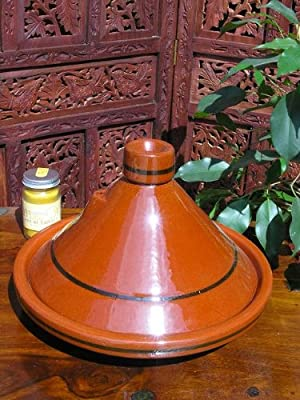 Traditional Large Moroccan Terracotta Tagine from Maroque