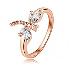 buy Beydodo Rose-Gold Rings (Wedding Bands) For Women Us Size 5.5 Rose Gold