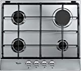 WHIRLPOOL AKR 360 IX 4 Burner Stainless Steel Gas Hob