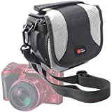 Etui de rangement pour Nikon Coolpix P610 et L840, Canon PowerShot SX410 IS et Pentax XG-1 appareils photo Bridge + lanière amovible DURAGADGET