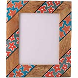 Rang Rage Designer Handpainted Colorful Photo Picture Frame Wall Photoframe Wood Made Home Décor Art Bright Floral...