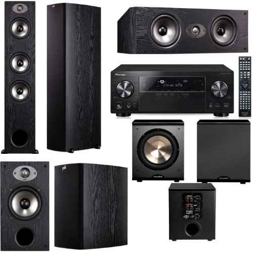 Polk Audio TSX440T 5.1 Home Theater System (Black)-Pioneer VSX-1123-K 7.2