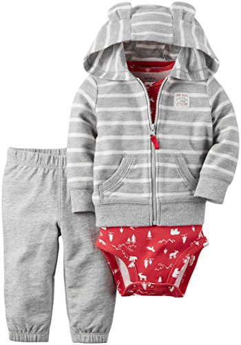 Carter's Baby Boys Cardigan Sets, Heather, 6 Months