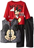 Disney Baby-boys Infant 3 Piece Mickey since 28 Vest and Pant Set, Grey, 18 Months